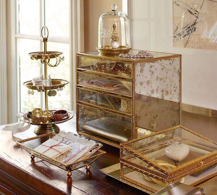 Antique Gold Jewelry Boxes Jewellery Storage Jewellery