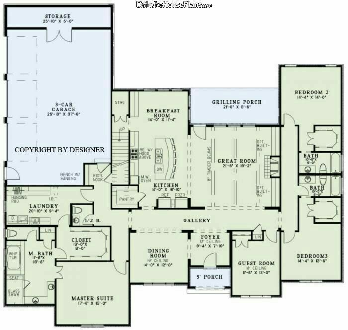 ranch house plans large. LIKE 3 car garage  guest room study CHANGE baths between bedrooms remove master closet laundry door ADD safe Traditional Style House Plans 3415 sq Pin by Bonnie Turner Photography Virginia Wedding Elopements
