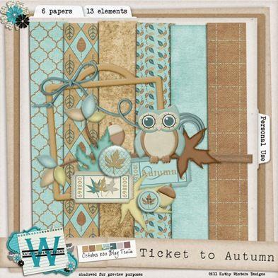 DST October blog train free scrapbook kit