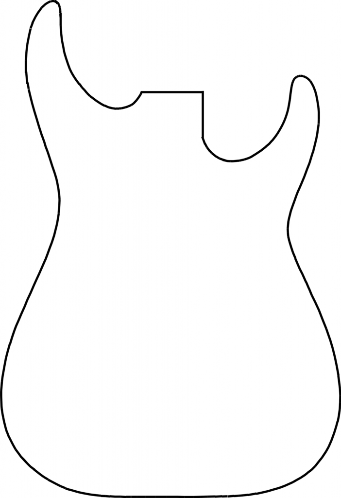 guitar outline template use these free images for your websites