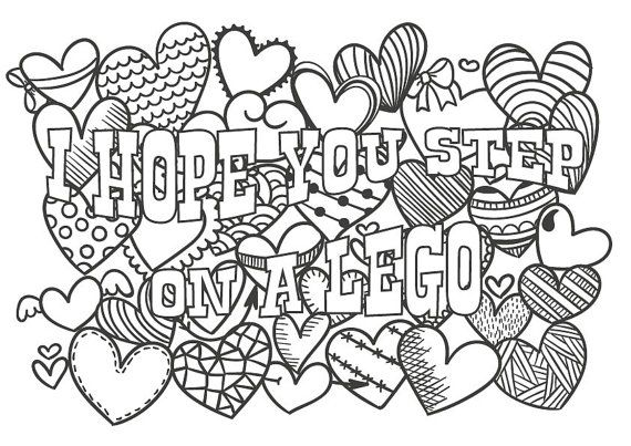 Cute Insult Calming Coloring Page With Ornaments By Paperbro