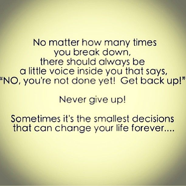 Never Give Up In Moments Of Weakness Never Give In U Just Must