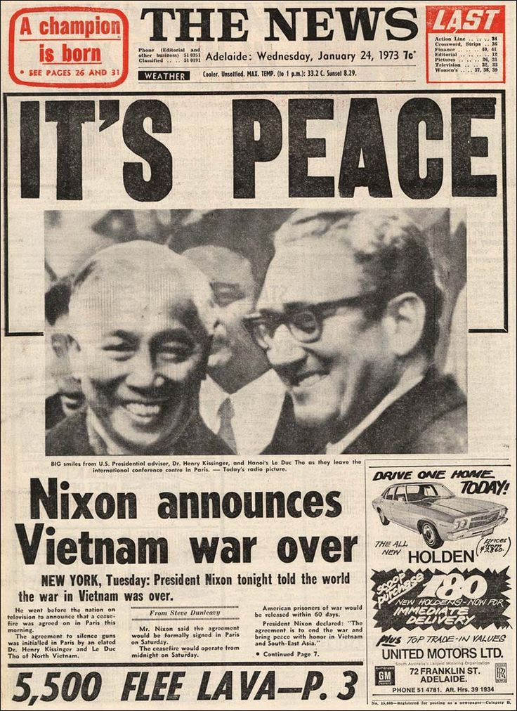 Events That Happened In 1973xon Announces Vietnam War Is Over