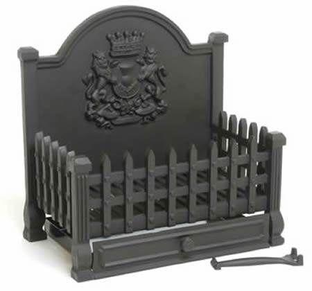Royal Large Cast Iron Dog Grate Open Fire Basket Fireplace Heavy
