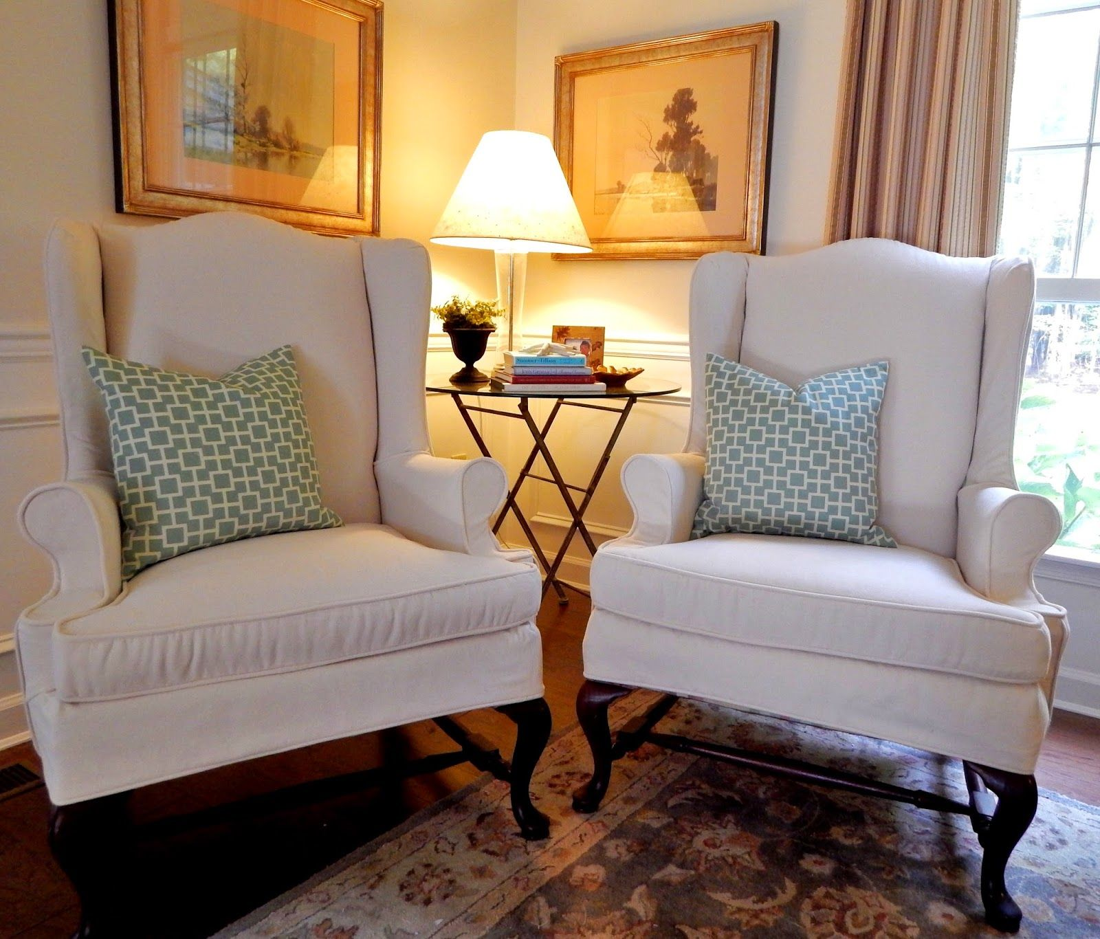 Wingback Chair Slipcovers Pottery Barn: Pam Morris Sews: Pottery Barn Brushed Canvas On Wing