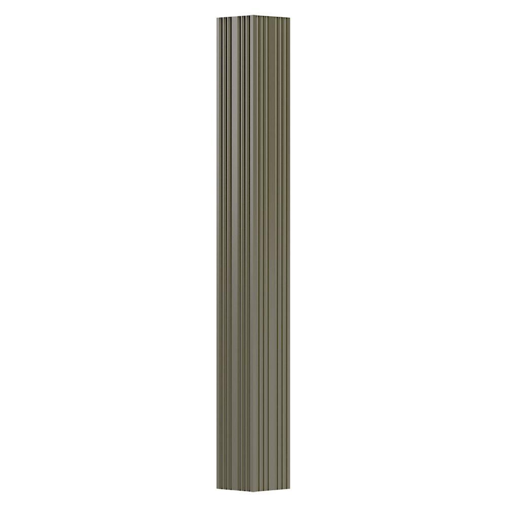 AFCO 3 in. x 8 ft. Clay Non-Tapered Fluted Square Shaft (Load-Bearing) Endura-Aluminum Column