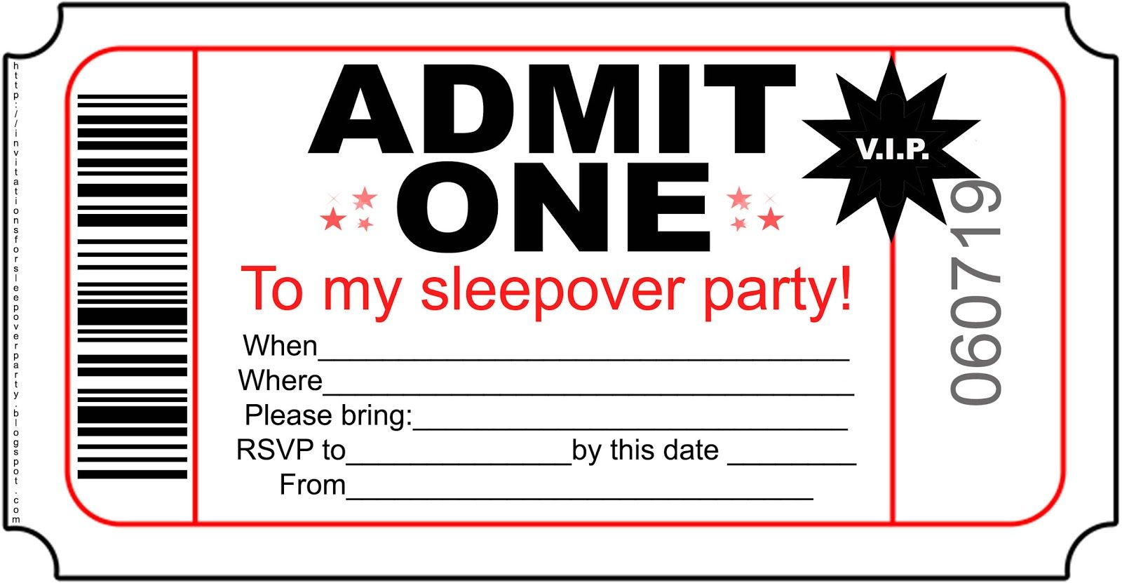 Free Printable Sleepover Party Invitations Hundreds Of Slumber