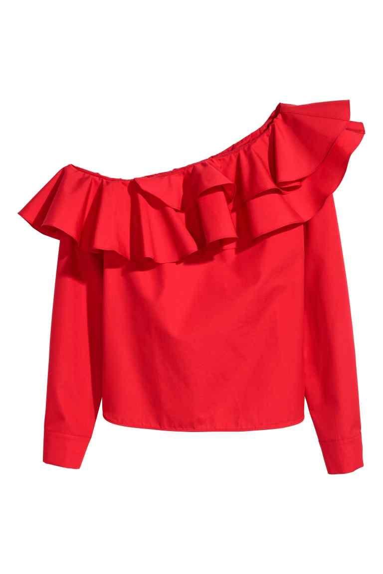 930b47defb Blusa de un solo hombro - Rojo 39