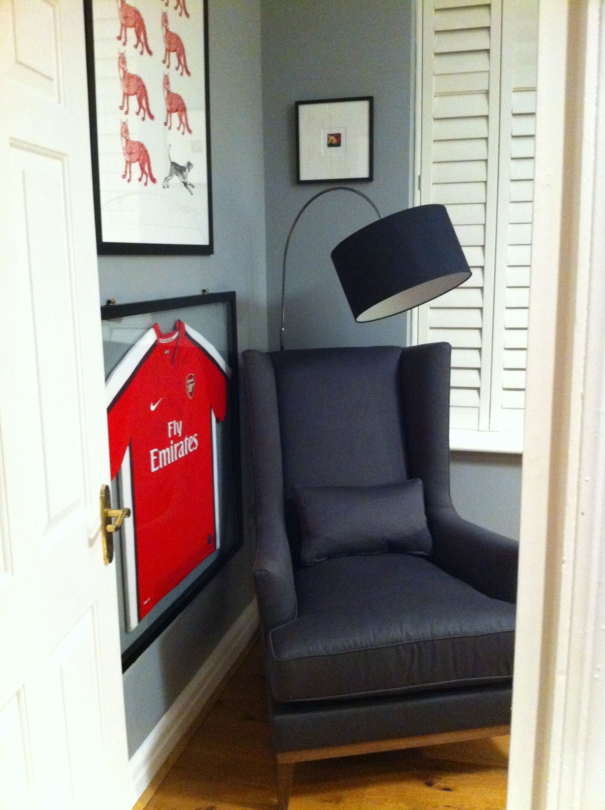 home office for a radiologist with special items framed