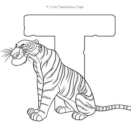 T Is For Tiger Coloring Page Disney Family Coloring Pages Disney Coloring Pages Animal Coloring Pages