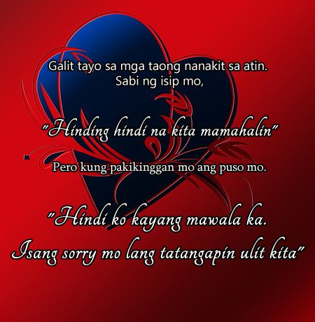 Tagalog Love Quotes for Him | Tagalog, Qoutes and Quote ...