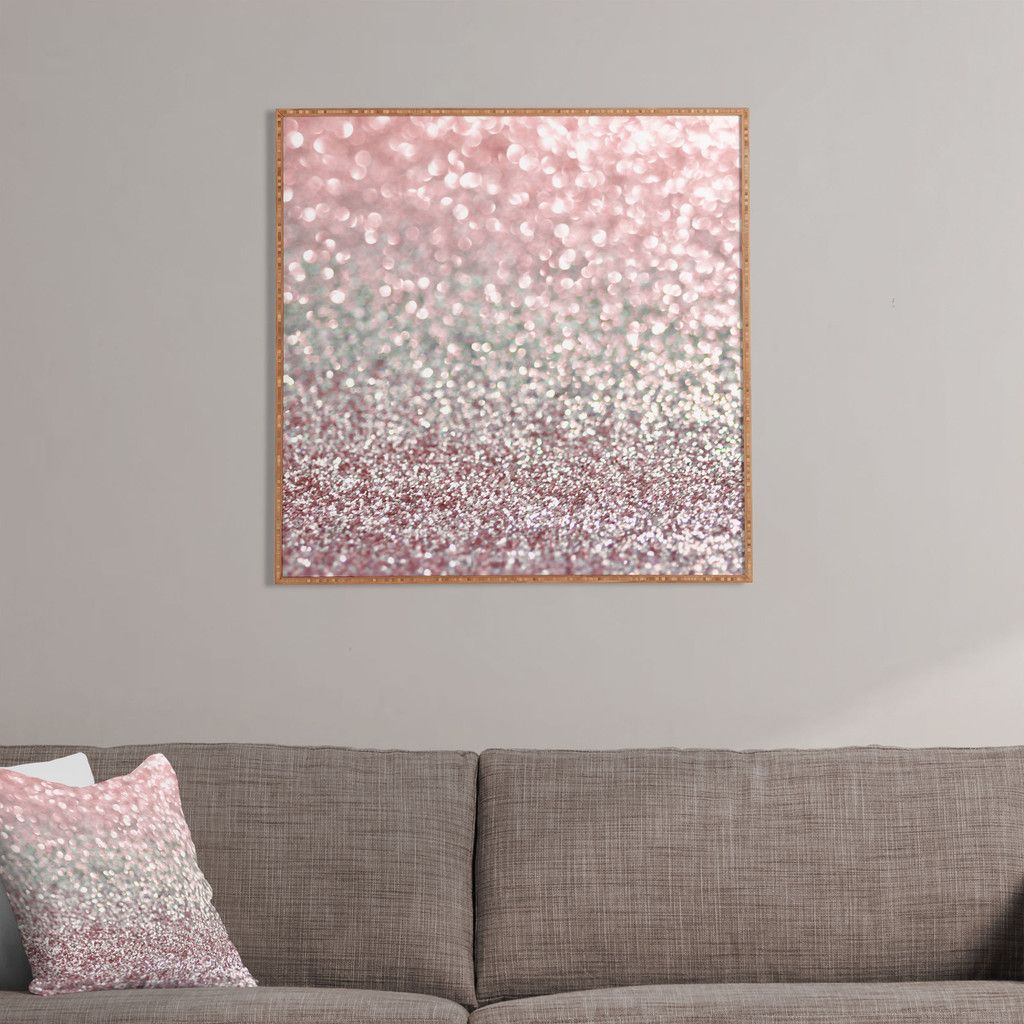 Girly Bedroom Accessories: Lisa Argyropoulos Girly Pink Snowfall Framed Wall Art