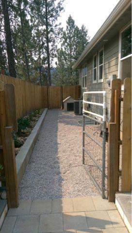 Dog Run | Dog run side yard, Dog yard, Dog spaces