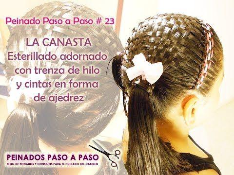 Peinados para niña fáciles La Canasta - Esterillado con trenza de - peinados de nia faciles de hacer