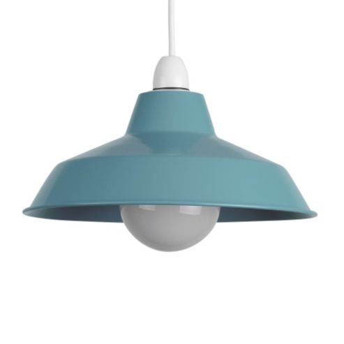 Buy colby retro style metal ceiling light shade in powder blue from our bathroom lighting range