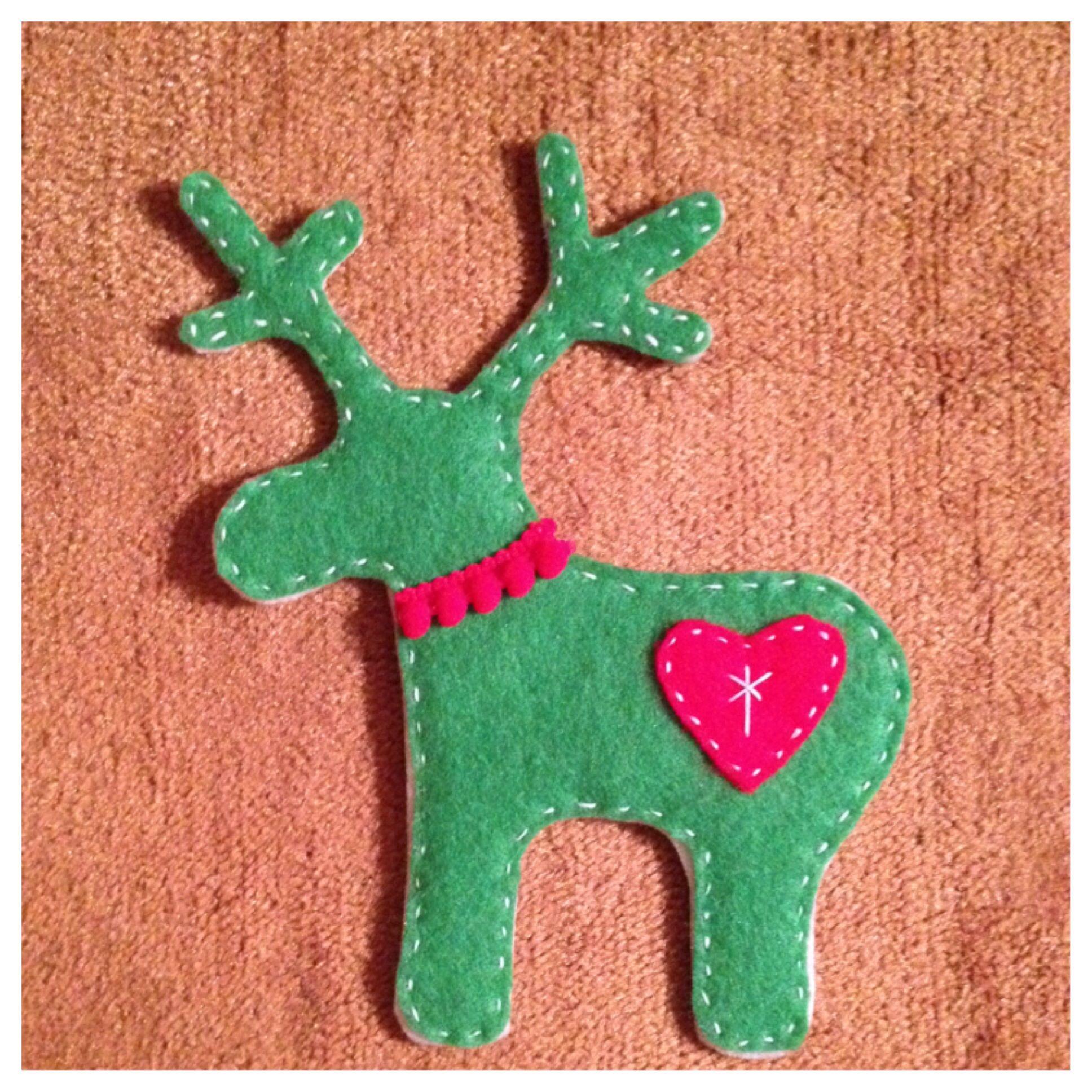 Felt Reindeer Ornament For Kids Felt Christmas Tree Felt Christmas Ornaments Felt Christmas Tree Felt Christmas