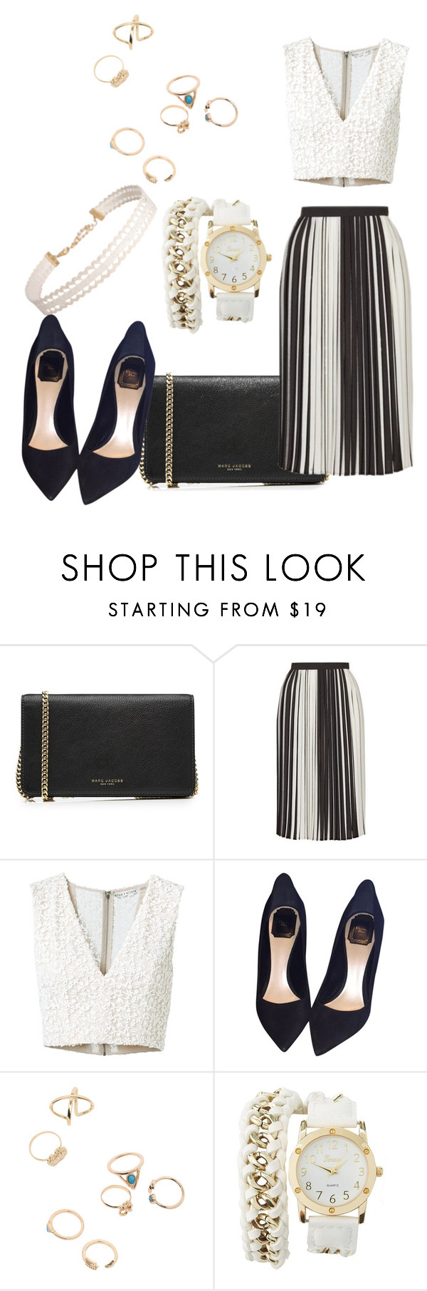 """""""Untitled #146"""" by eli-ntgh ❤ liked on Polyvore featuring Marc Jacobs, Topshop, Alice + Olivia, Christian Dior, Charlotte Russe and Humble Chic"""