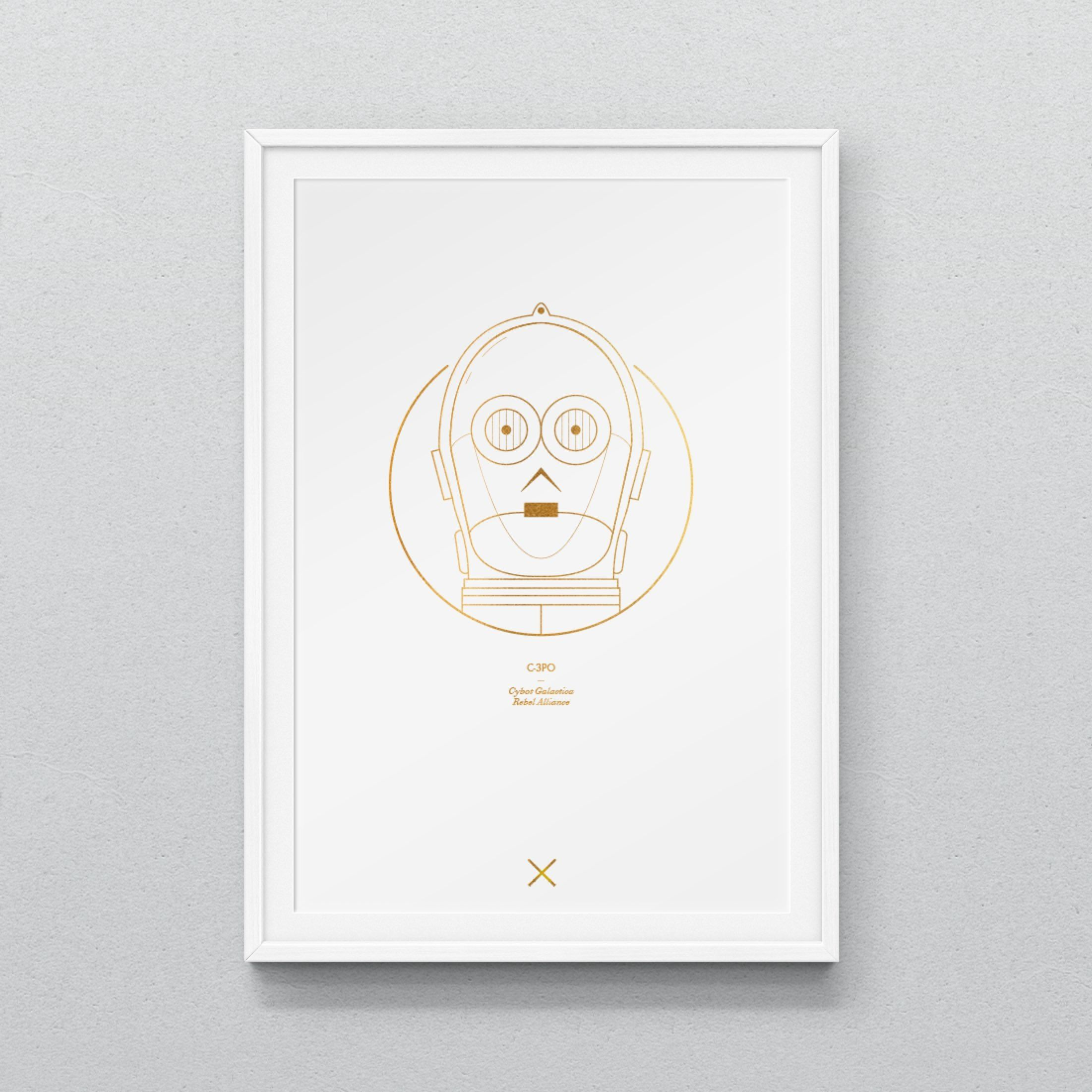 C-3PO A3 Print Fan ArtNon limited edition.Printed to order, Dispatched within 7 working days.210 GSM Digital Print