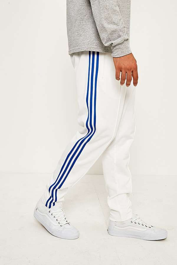 Slide View  3  adidas Originals 70 Osaka Beckenbauer White and Blue Track  Pants c4474f3eb544e