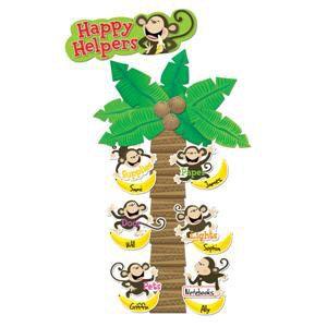 Monkey Classroom Ideas | Happy Helpers Monkeys Mini Bulletin Board