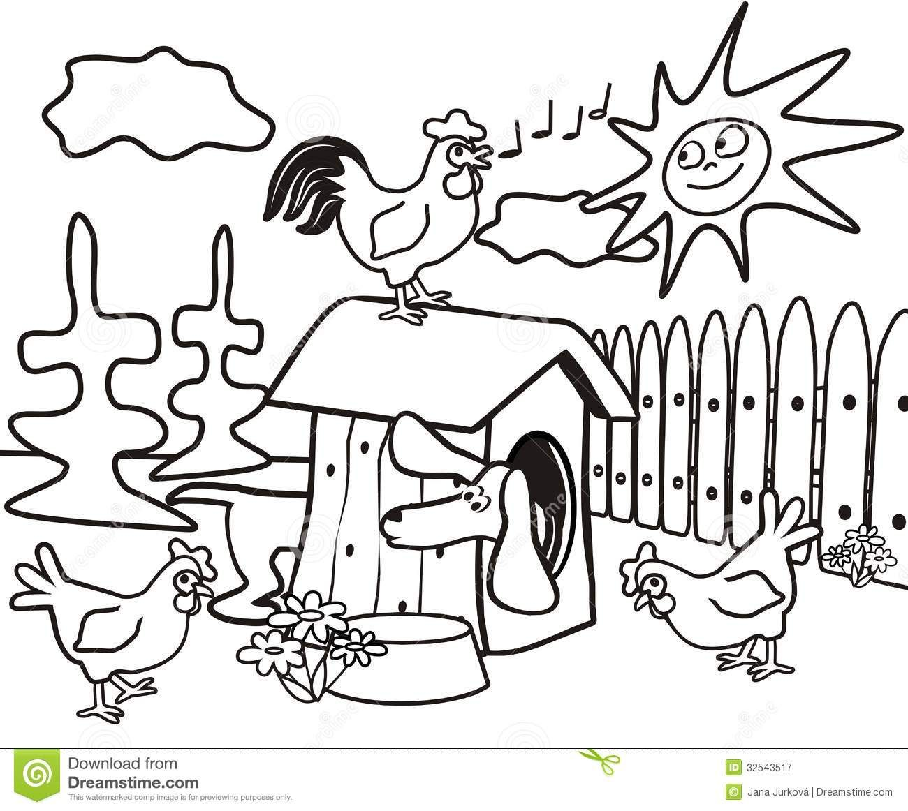 Dachshund Coloring Book Kids Dog Cock Hens 32543517