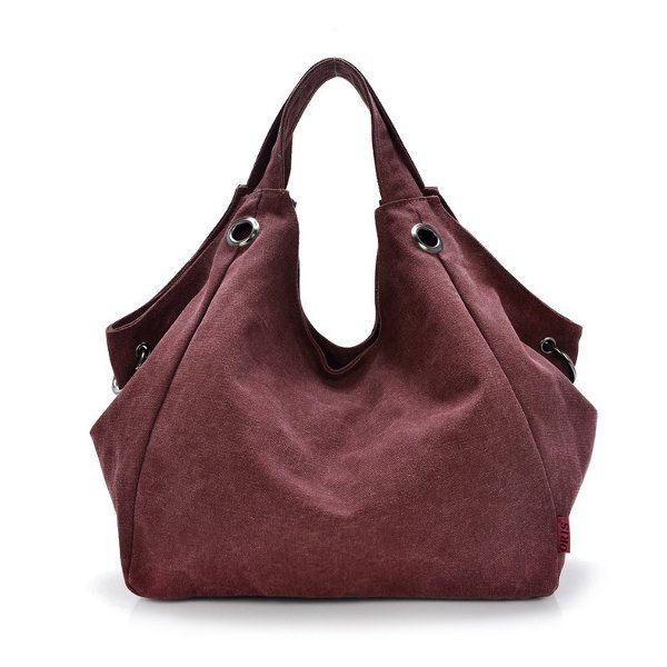 Material   			 				  Canvas     		 		 			 				  Color   			 				 Blue,Coffee,Khaki,Wine Red,Purple  		 		 			 				  Weight   			 				 350g  		 		 			 				  Length   			 				 35cm (13.78'')  		 		 			 				  Height   			 				 37cm (14.57'')  		 		 			 				  Width   			 				 16cm (6.30'')  		 		 			 				  Handle Height   			 				 12cm (4.72'')  		 		 			 				  Pattern   			 				 Solid  		 		 			 				  Inner Pocket   			 				 Main Pocket, Zipper Pocket 				Phone Pocket,Card Pocket, Key Pocket