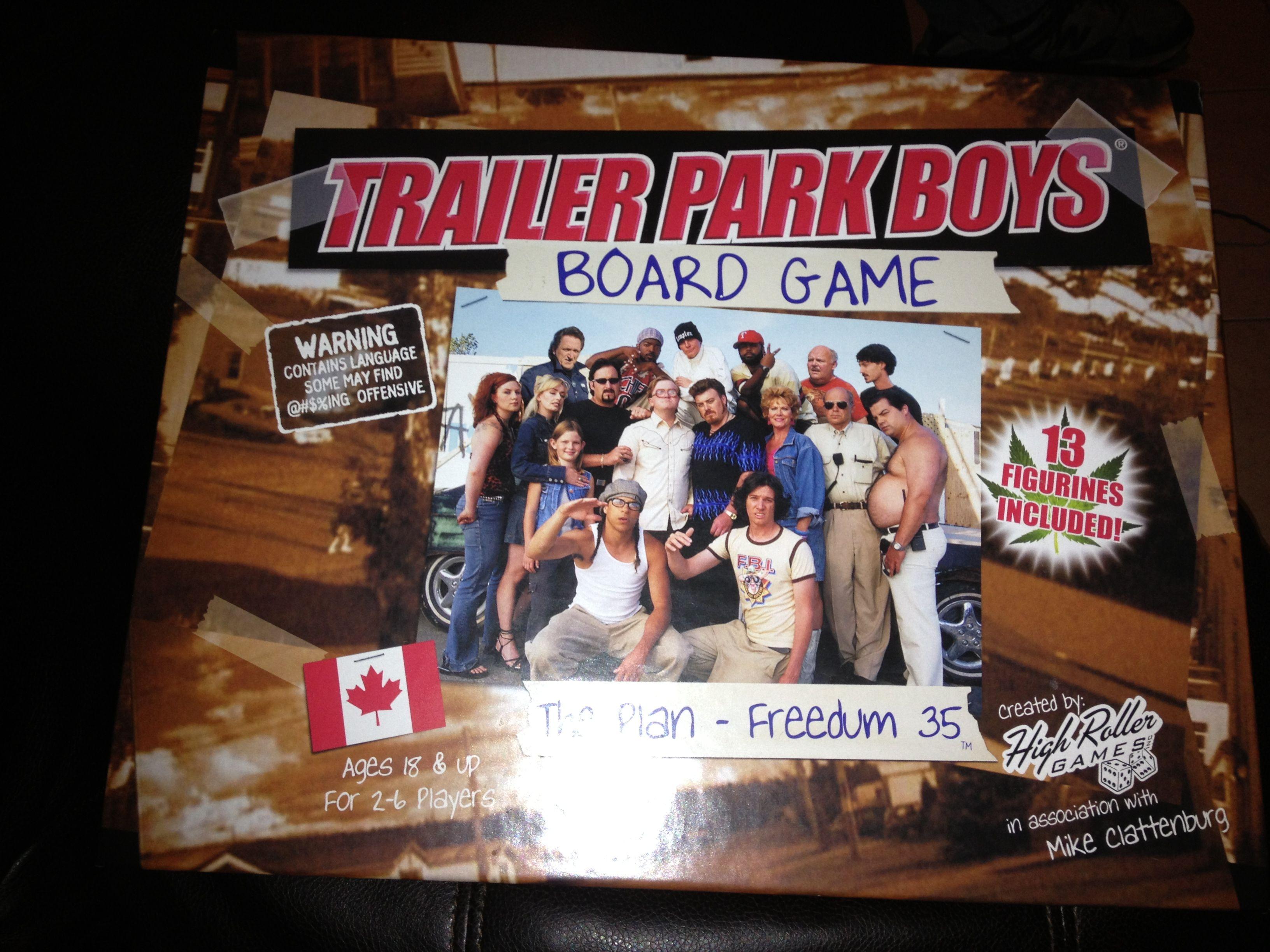 Trailer park boys board game Trailer park boys Pinterest