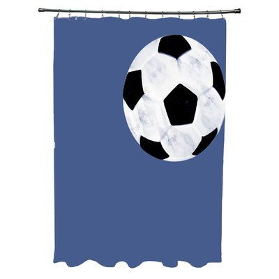 Zoomie Kids Bauer Soccer Ball Single Shower Curtain Soccer Ball