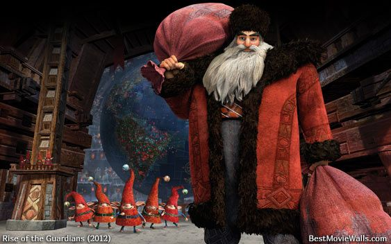 Ho Ho Ho Merry Christmas All Give The Gift Of Smiles With This Lovely Wallpaper For Rise Of The Guardians Rise Of The Guardians The Guardian Movie Guardian