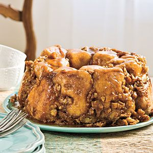This indulgent Praline Pull-Apart Bread tastes as good as it looks. Don't skip the quick step of whipping the cream before stirring in the brown sugar—that's the secret to the smooth texture of the caramel-flavored sauce.