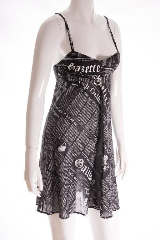 Iconic John Galliano Newspaper Print Dress Newspaper Print Dress Addict Clothing Print Clothes