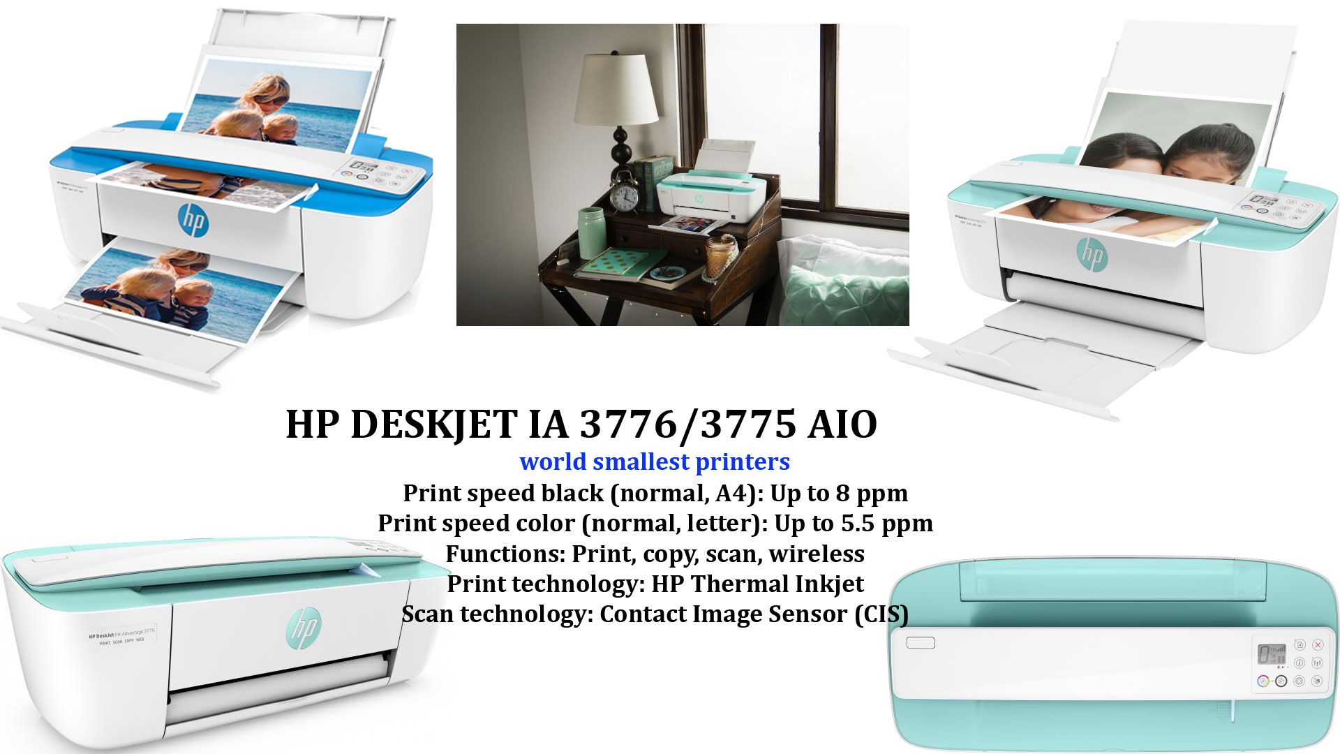 World Smallest All In One Printer Aio Hp Deskjet Ia 3776 3775 Ink Advantage