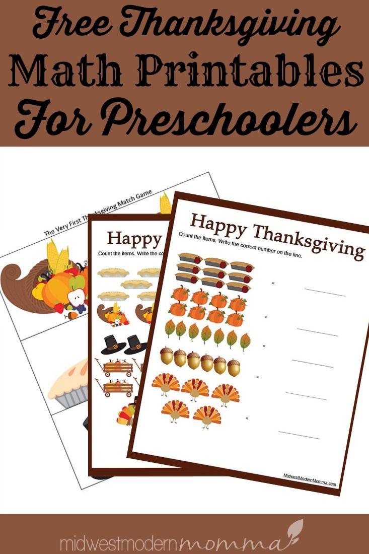 Free Thanksgiving Worksheets For Preschool Math Thanksgiving Worksheets Free Preschool Worksheets Preschool Worksheets [ 1100 x 733 Pixel ]