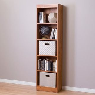 Charming Cherry South Shore Axess 5 Shelf Narrow Bookcase.
