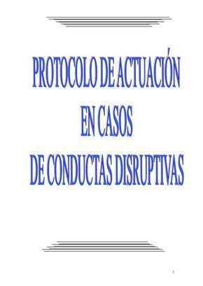 Protocolo de accion en conductas disruptivas