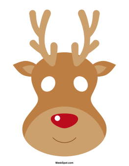 Reindeer mask templates including a coloring page version of the