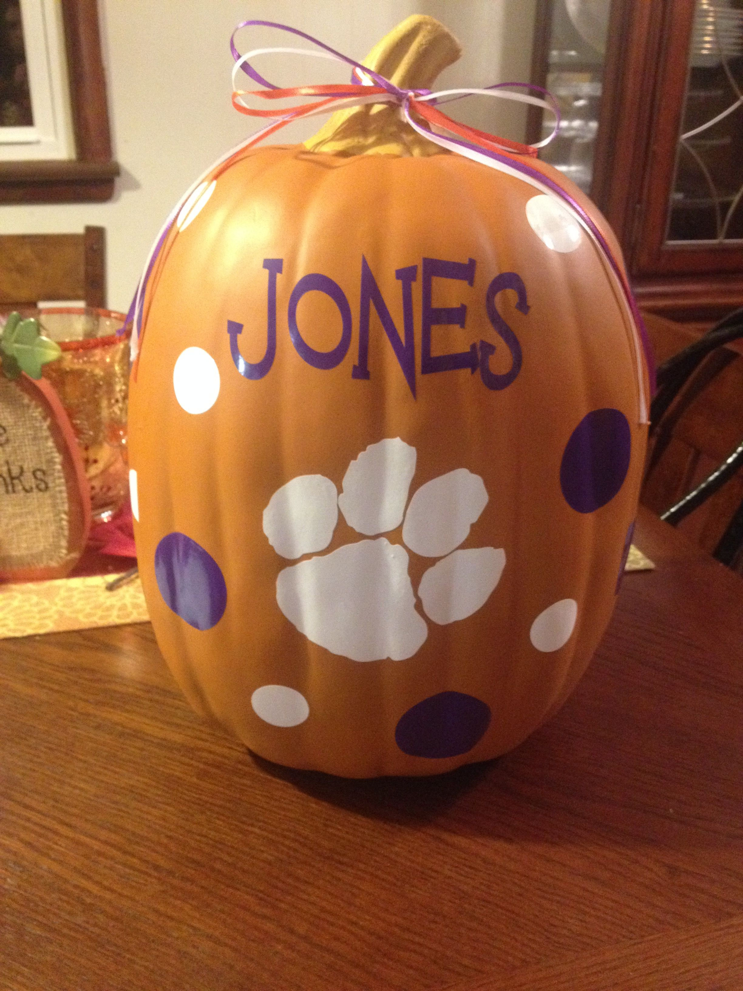 Clemson pumpkin themed do  after to I seeing a was inspired