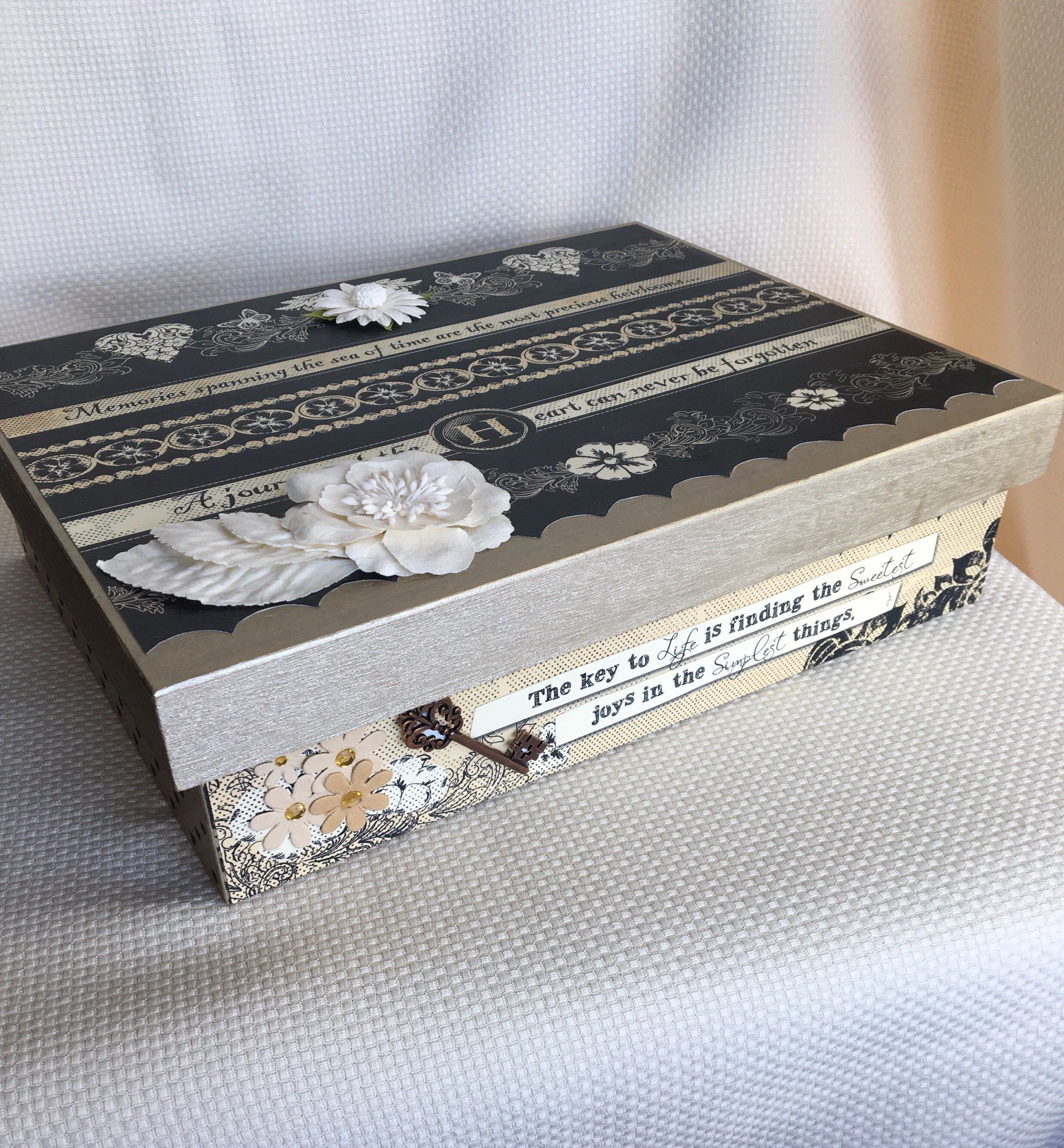 Memory Box Wedding Keepsake Box Engagement Gift Wedding Gift