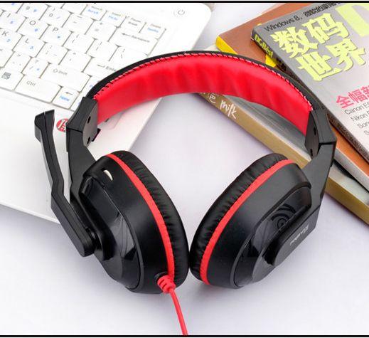 $6.85 (Buy here: http://appdeal.ru/8bzw ) Skype Gaming Game Stereo Headphones Headset Earphone PC Laptop KANGLING 770 Black&RED for just $6.85