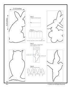 Paper chain template bunny bird how to pinterest paper paper chain template bunny bird pronofoot35fo Images