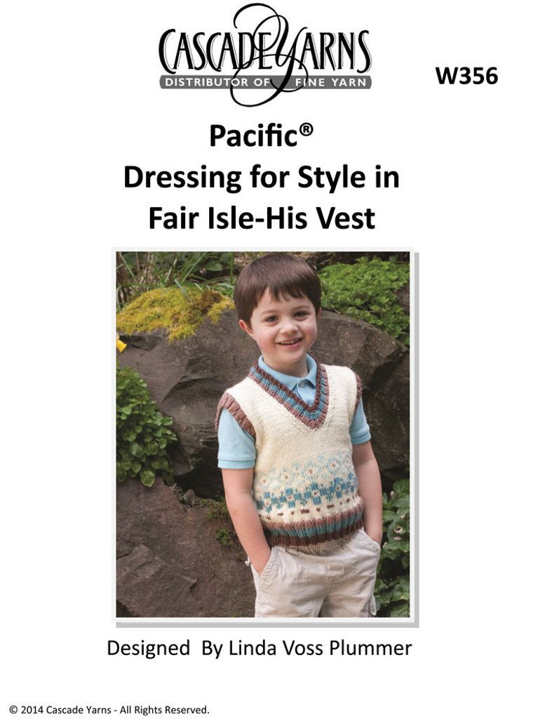 Dressing For Style In Fair Isle His Vest In Cascade Pacific W356