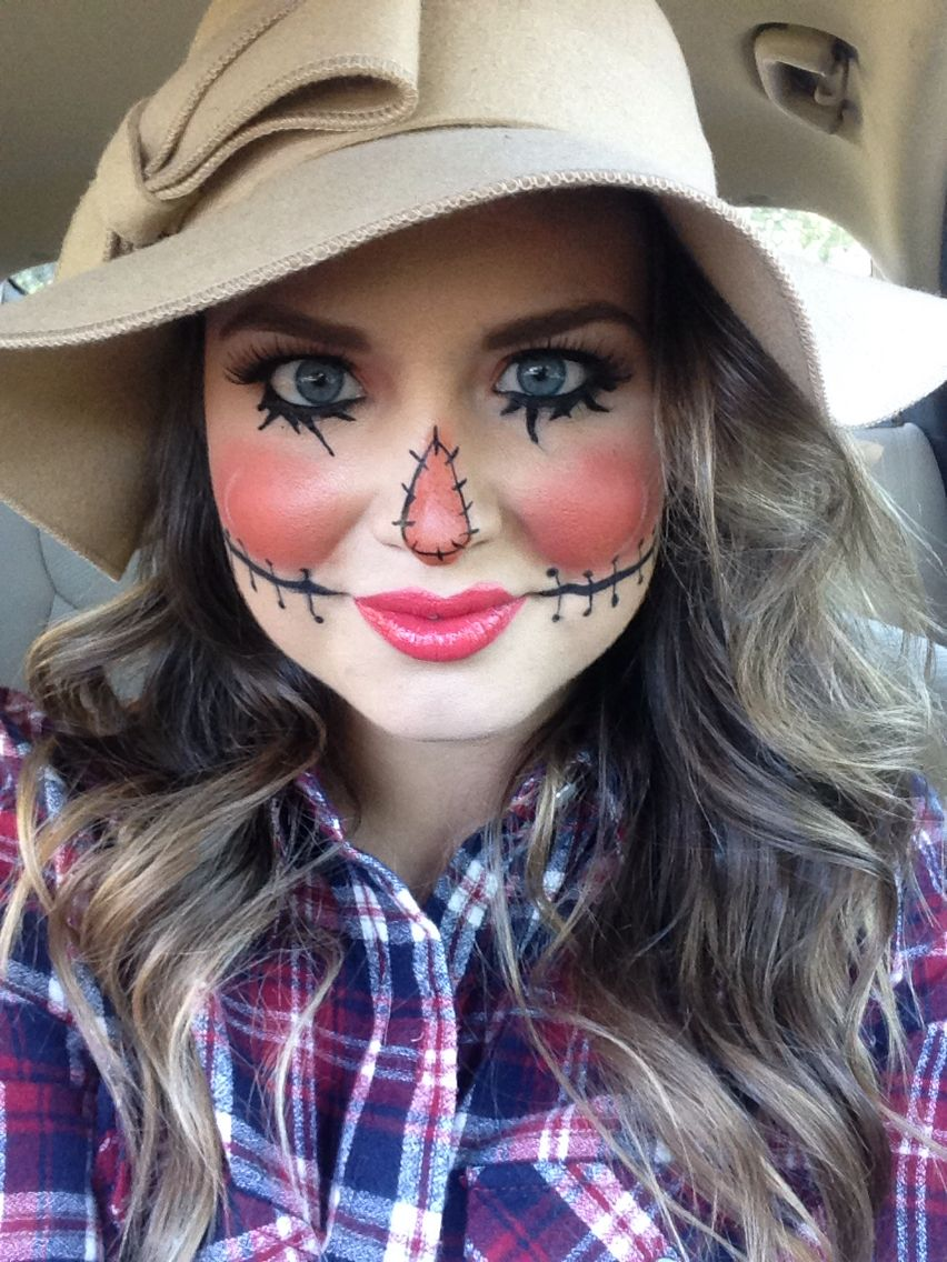 Halloween Makeup // Scarecrow Makeup // cute costume // cute ...