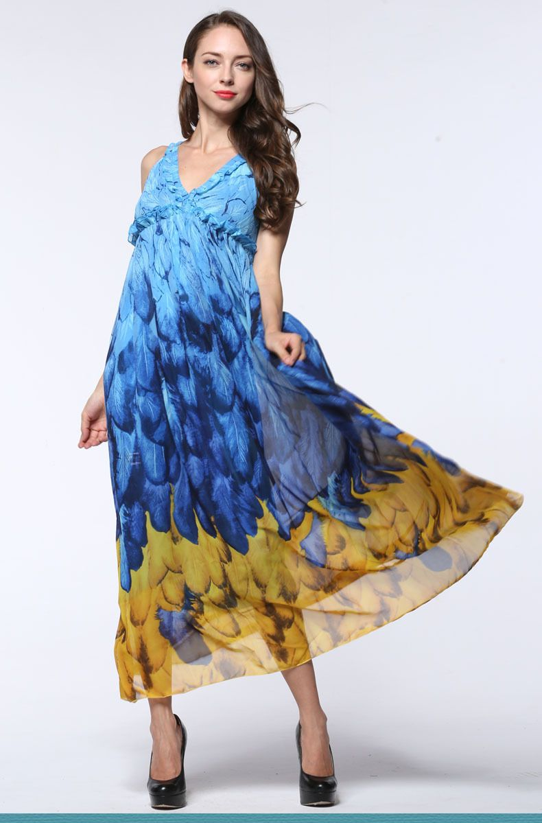 ebb35197061 2017 Women Summer Skirt Boho Vestidos Largos Robe Femme Beach Casual Vestidos  Plus Size 6XL Bohemian. Plus Size MaxiDress Plus ...