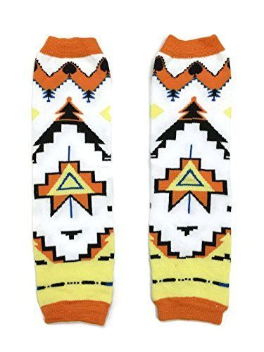 KWC  American Indian Tribal Orange Baby Toddler Leg Warmer Triangle Tribe KWC  American Indian Tribal Orange Baby Toddler Leg Warmer Triangle Tribe