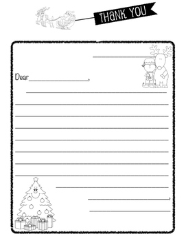 christmas letter template i use this christmas letter template to have my students write thank you letters for gifts they might have received