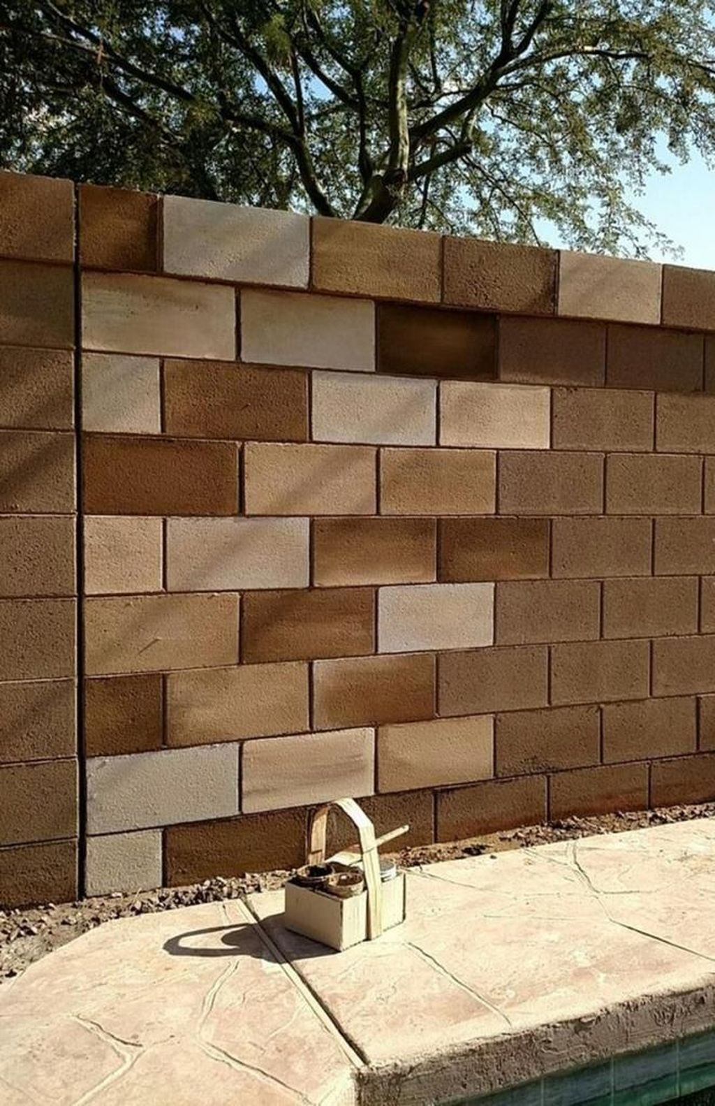 33 Glamorous Wall Outdoor Concrete Design Ideas That Will Inspire You Decorating Cinder Block Walls Cinder Block Garden Wall Cinder Block Walls