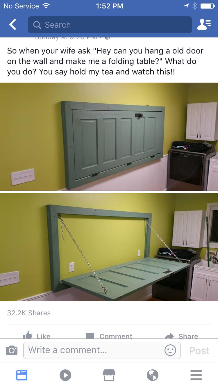 Old door folding down table <3 | Home ideas | Pinterest | Doors ...