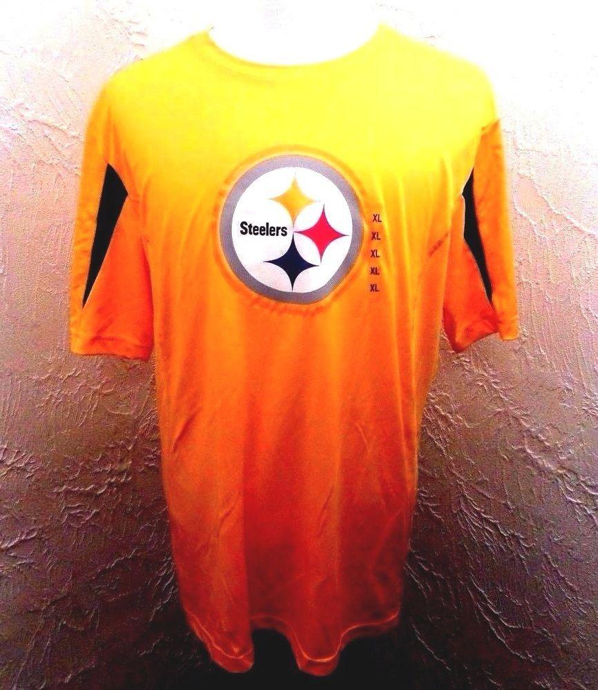 ab98d781 NWT Pittsburg Steelers Majestic NFL Cool Base Short Sleeve Web ...