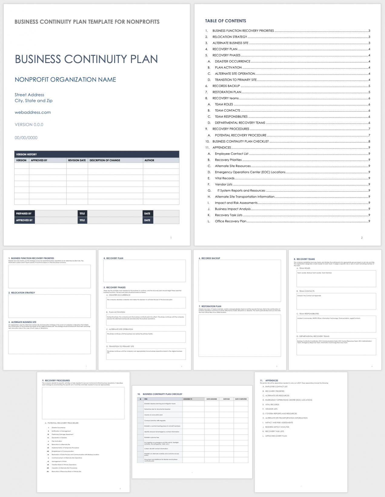 20 Business Continuity Disaster Recovery Plan Template