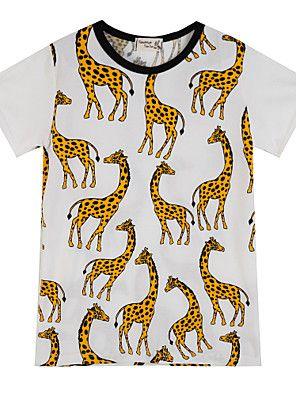 Menino de Camiseta Verão Algodão Animal Menino de